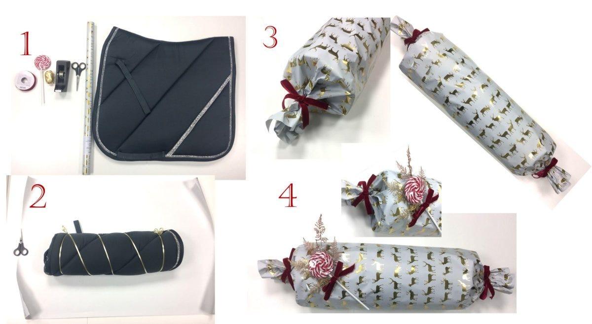 Schabracke als Geschenk einpacken